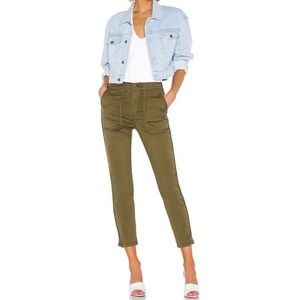 NWT Joie Andira Pant Side Seam Pocket Olive Green